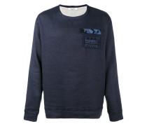 Sweatshirt mit Military-Patches
