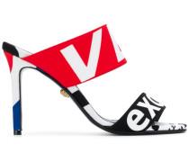Sandalen mit Logo-Print