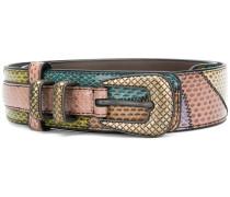 Gürtel mit Einsatz aus Schlangenleder