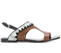 Sandalen mit abstraktem Print