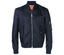 V-punk studded bomber jacket