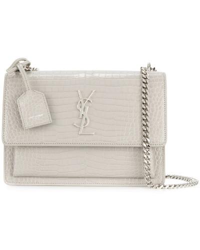 Günstig Kaufen Mode-Stil Auslass Verkauf Online Saint Laurent Damen Schultertasche mit Kroko-Effekt JWlFD3uh3