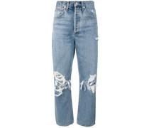'Mom' Jeans im Distressed-Look