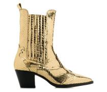 'Texano' Stiefeletten im Metallic-Look