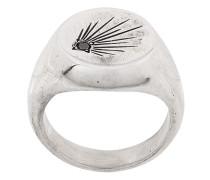 black diamond comet signet ring