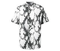 snakeskin print short-sleeve shirt