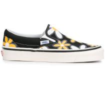 Geblümte Slip-On-Sneakers aus Canvas