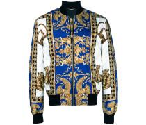 Barocco print bomber jacket