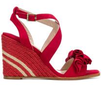 ruffle wedge sandals