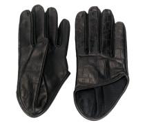 Handschuhe mit Kroko-Effekt