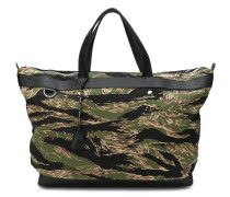 camouflage print holdall bag