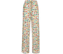 spotted print palazzo pants