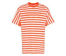 Gestreiftes T-Shirt mit Logo