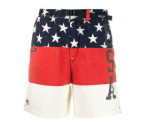 'USA' Shorts in Colour-Block-Optik