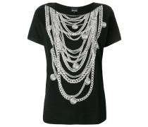 T-Shirt mit Halskettendetails