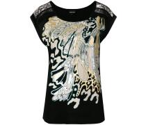 wave design T-shirt
