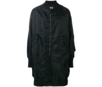 mid-length satin bomber jacket