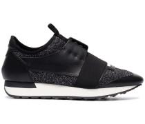 'Runner' Sneakers mit Glitzereffekt