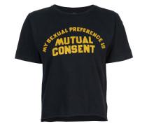 Cropped-T-Shirt aus Baumwolle