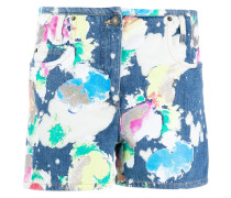 bleached painted shorts