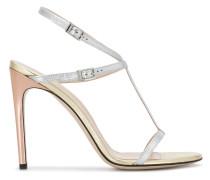 Metallic-Sandalen mit Riemen