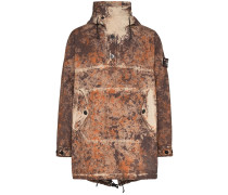 Kapuzenparka mit Paintball-Print