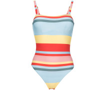 bold stripe one piece swimsuit
