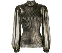 metallic glow sweater