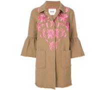 Mantel mit Blütenstickerei