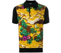 Poloshirt mit Hawaii-Print