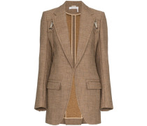 clip on strap wool blazer