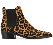 Chelsea-Boots mit Leopardenmuster