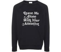 Sweatshirt mit Slogan-Stickerei