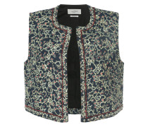 all-over printed vest
