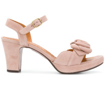 bow open-toe sandals