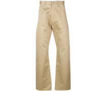 reflective patch chino trousers