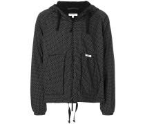 hooded polka dot jacket