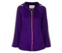 crystal embellished jersey hoodie