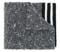 Schal mit gestreiftem Saum