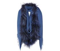 'Touch of Fur' Schal mit Fuchspelzbesatz
