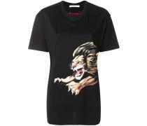 T-Shirt mit Löwen-Print