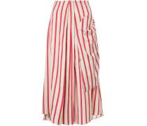 multi-tuck drape skirt