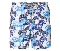 zebra print swim shorts