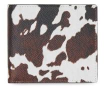 Portemonnaie mit Kuh-Print