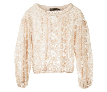 gathered lace top
