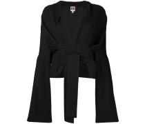 Cropped-Jacke mit Taillenband