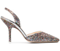 multi-coloured Mara 100 glitter pumps