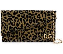 'DG Girls' Clutch mit Leopardenmuster