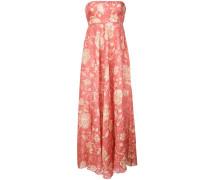 floral print bandeau maxi dress
