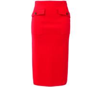 patch pocket pencil skirt